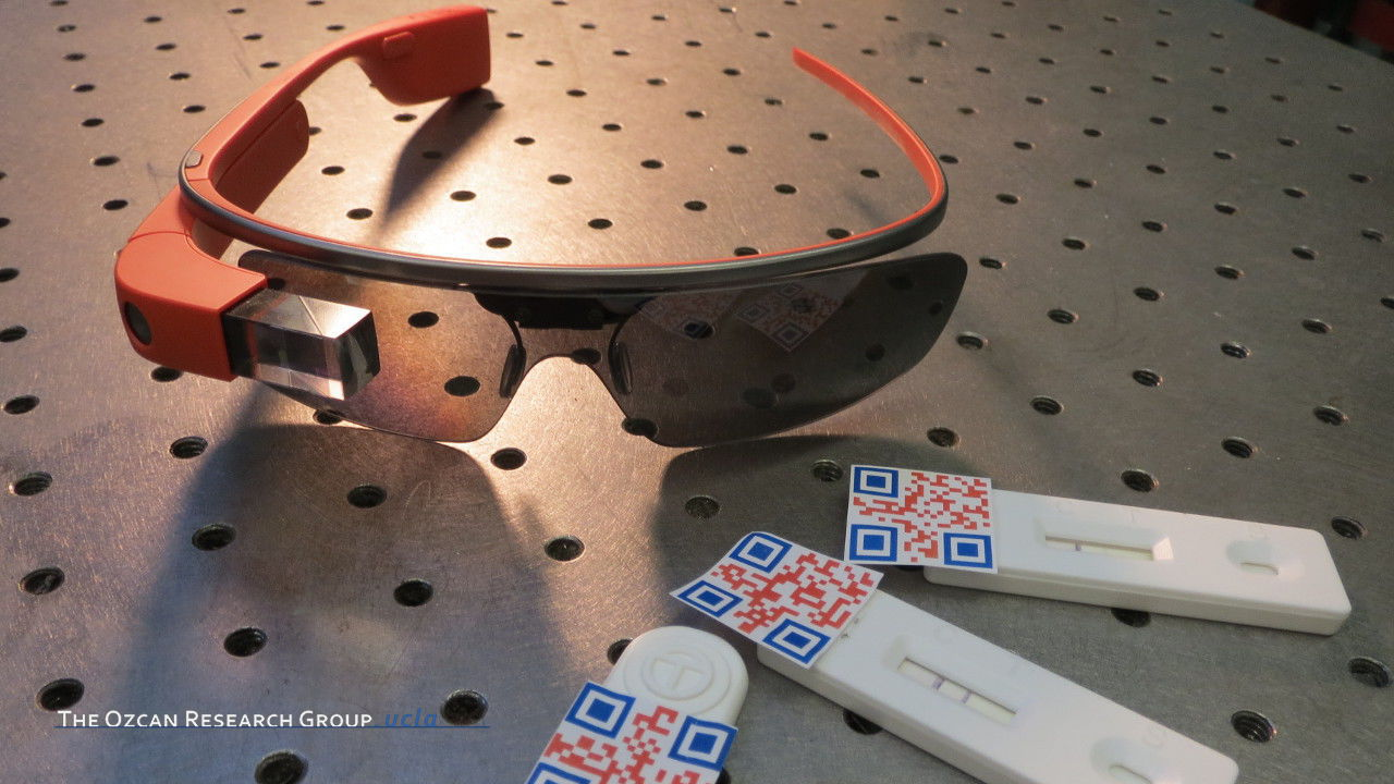 Google Glass-based Rapid Diagnostic Test Reader