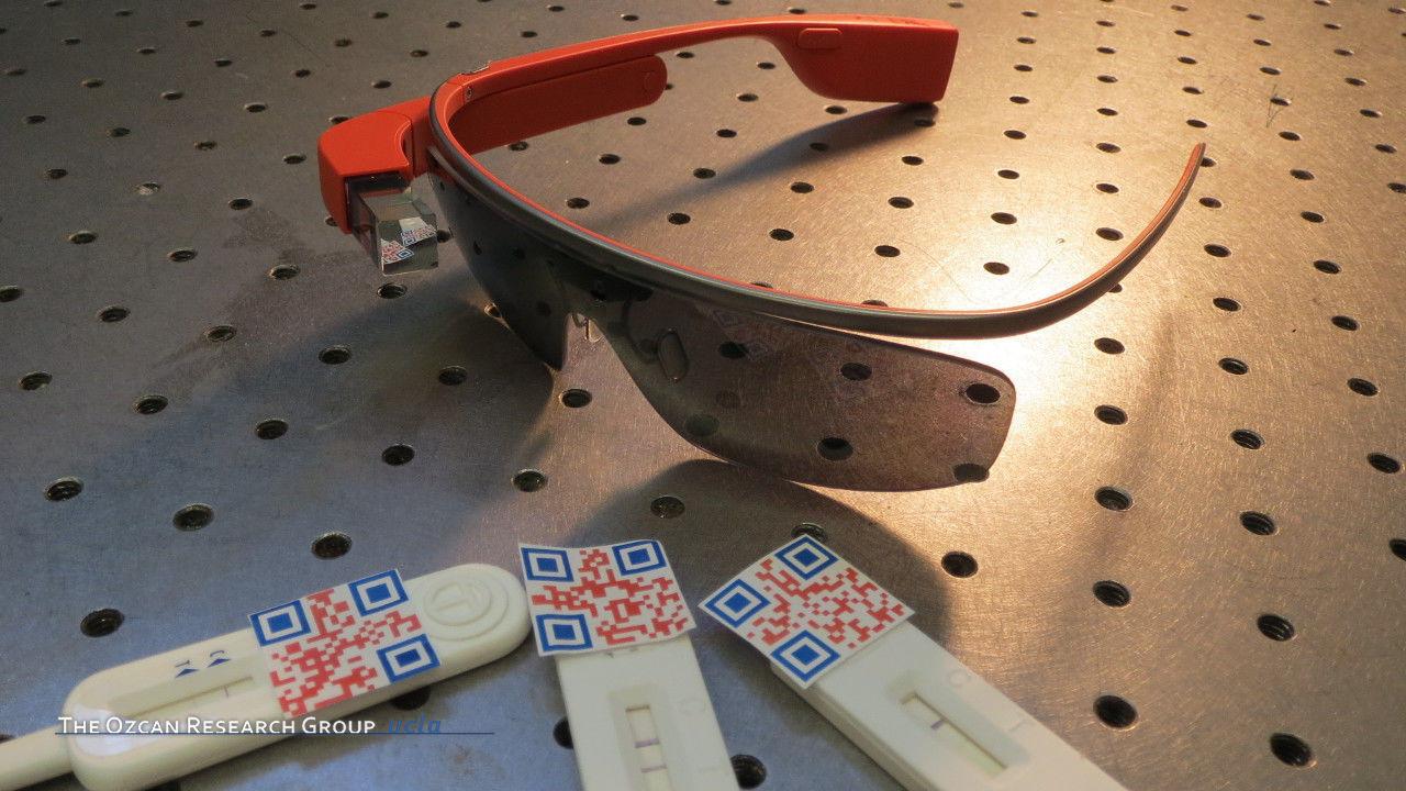 Google Glass-based Rapid Diagnostic Test Reader